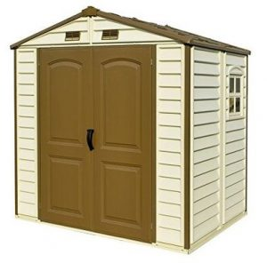 8. Duramax StoreAll 8 x 6 Plastic Garden Shed