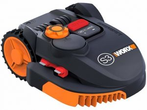9. WORX WR110MI Wi-Fi Enabled Robotic Mower,