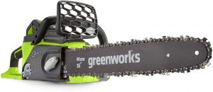 Greenworks Tools 40V- Best Cordless Chainsaw