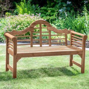 Plant Theatre Lutyens Hardwood Garden Bench