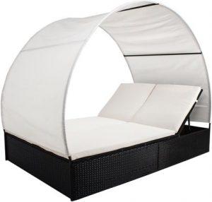 SSITG Rattan Sun Lounger Reclining Garden Chair