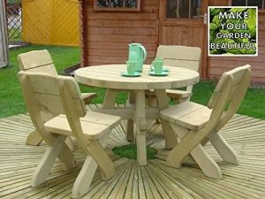MILOSZ GARDEN FURNITURE SET, WOOD