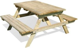 WOODEN GARDEN PICNIC TABLE BENCH