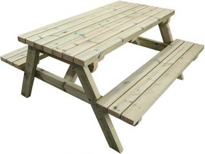 MG Timber Products Heavy Duty 6FT Wooden Picnic Table