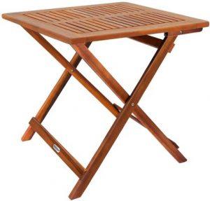 Deuba Small Coffee Table Wood 70 x 70 cm
