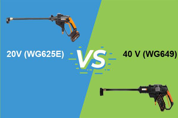 Hydroshot 20 V vs 40V pressure washer