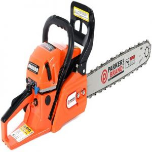 62CC 20 PETROL CHAINSAW + 2 x CHAINS - CARRY BAG - BAR COVER - TOOL KIT - ASSISTED START