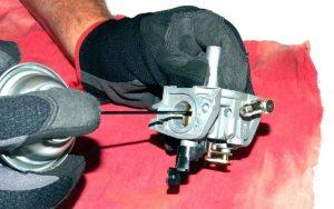 Clean the carburettor